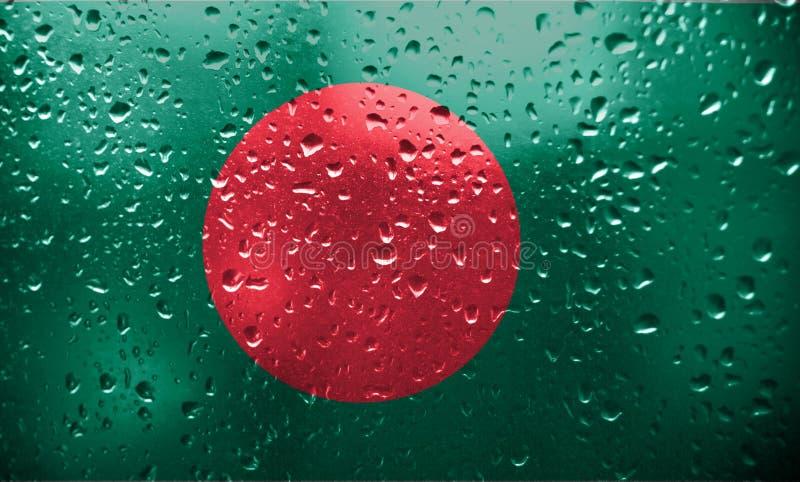 Texture de drapeau du Bangladesh images stock