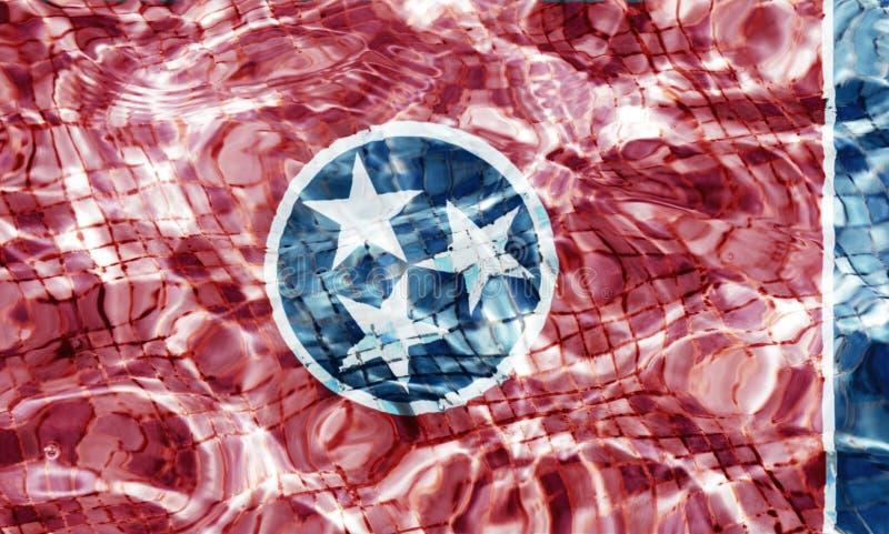 Texture de drapeau du Tennessee horizontale photos stock