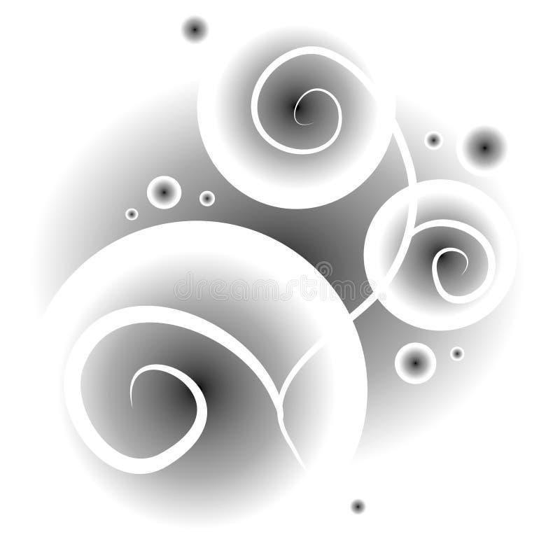 Texture de effacement de cercle de remous illustration libre de droits