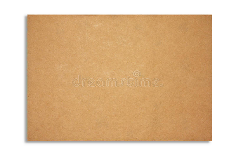 Texture de feuille de papier de Brown images libres de droits