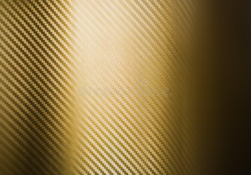 Texture de fibre de carbone d'or illustration de vecteur