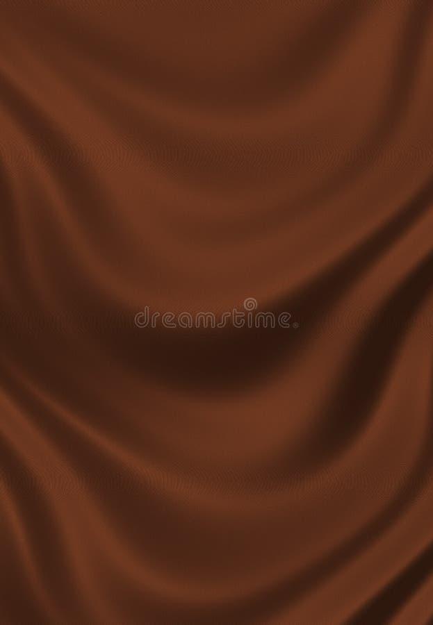 Texture de fin brune de soie de chocolat vers le haut illustration libre de droits