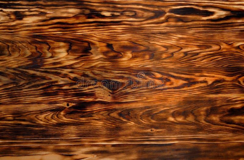 Texture de fond de bois de pin brun brûlé image stock