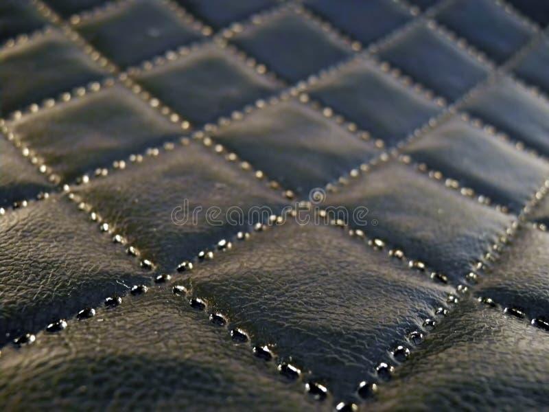 Texture de fond de cuir de noir foncé images stock