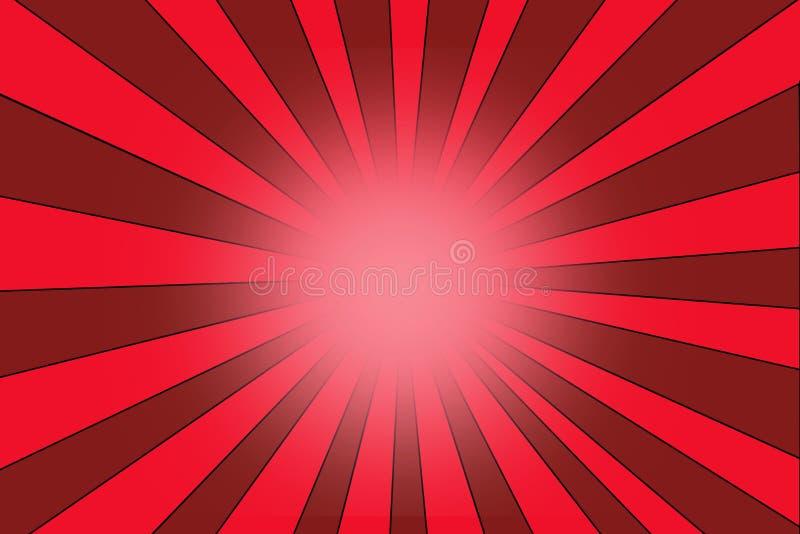 Texture de fond d'éclat d'étoile avec les rayures rouges illustration de vecteur