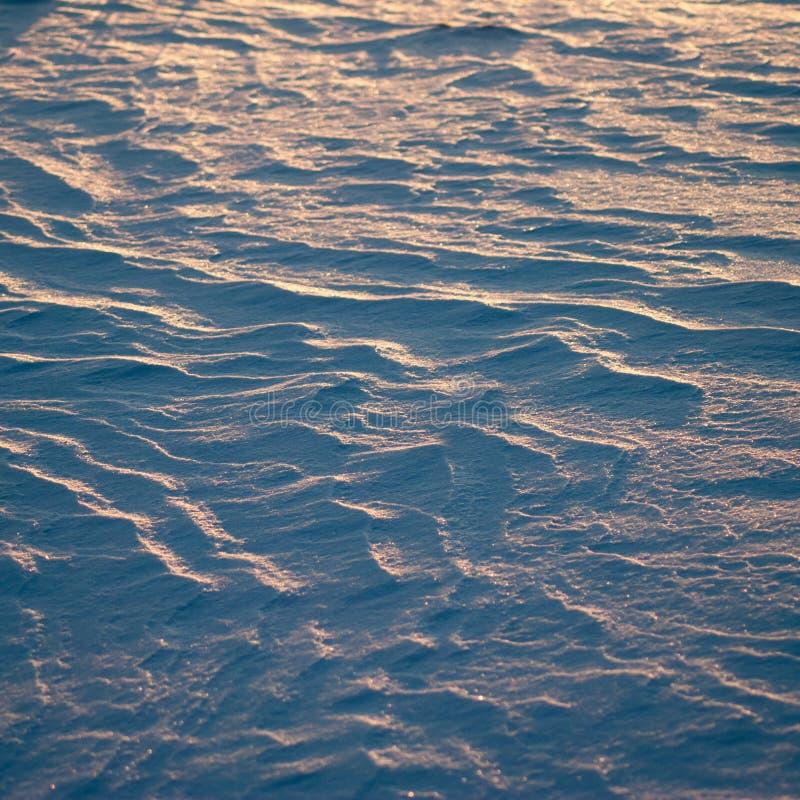 Texture de fond d'hiver belle et peu commune abstraite de neige, photographie stock libre de droits