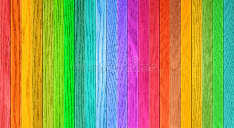 Texture de fond de barrière en bois colorée image libre de droits