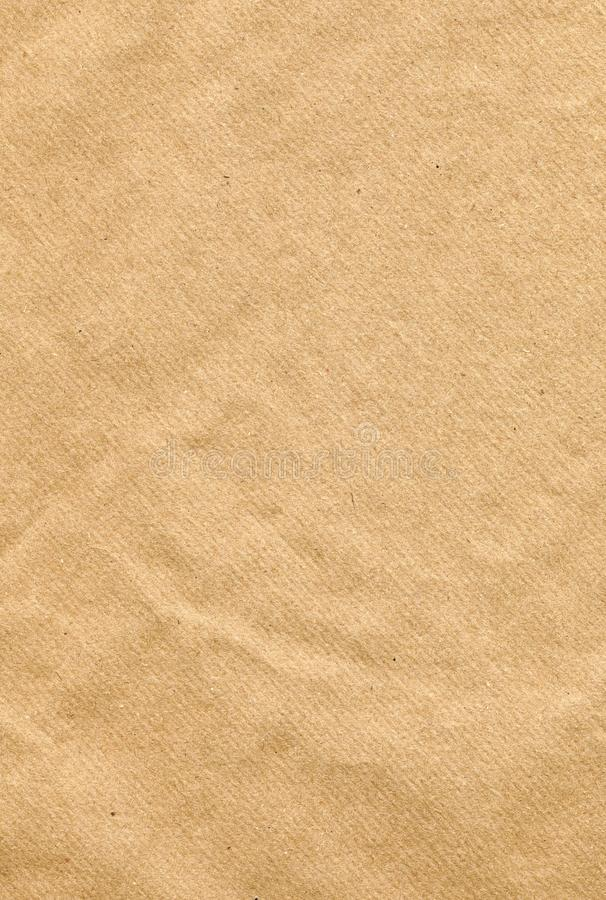Texture de fond de papier d'emballage de Brown image stock