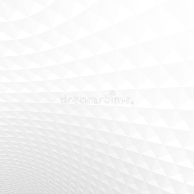 Texture de fond de perspective, blanche et grise légère abstraite illustration de vecteur
