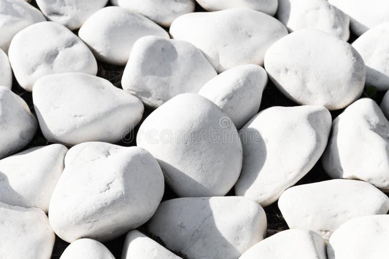 Texture de fond des pierres blanches lisses photographie stock