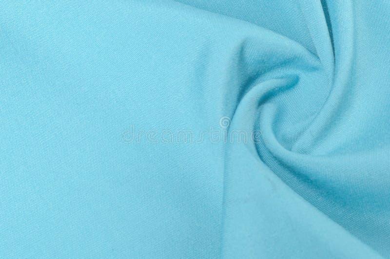 Texture de fond, modèle Laine bleue monophonique de tissu tissu image libre de droits