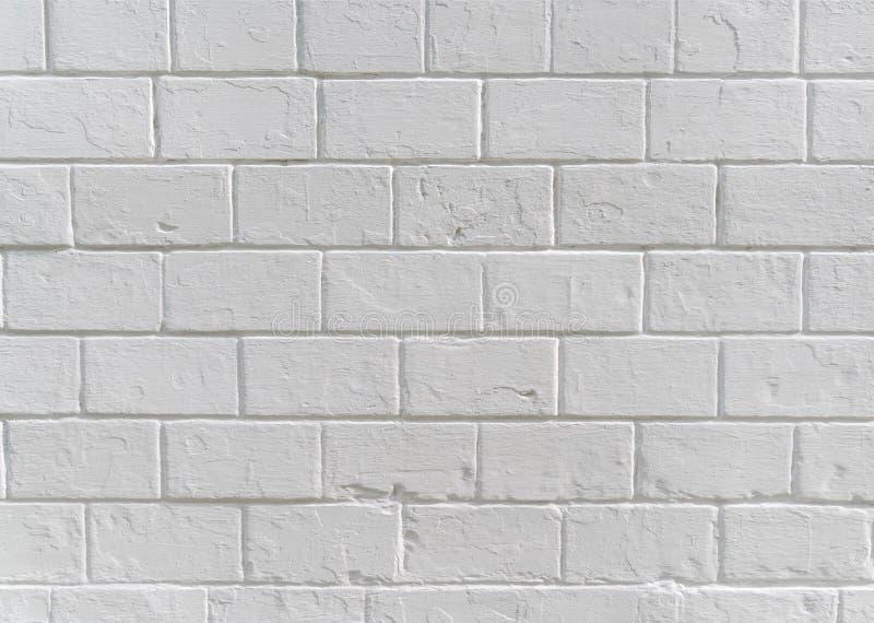 Texture de fond de mur de bloc de b?ton peinte par blanc photographie stock libre de droits