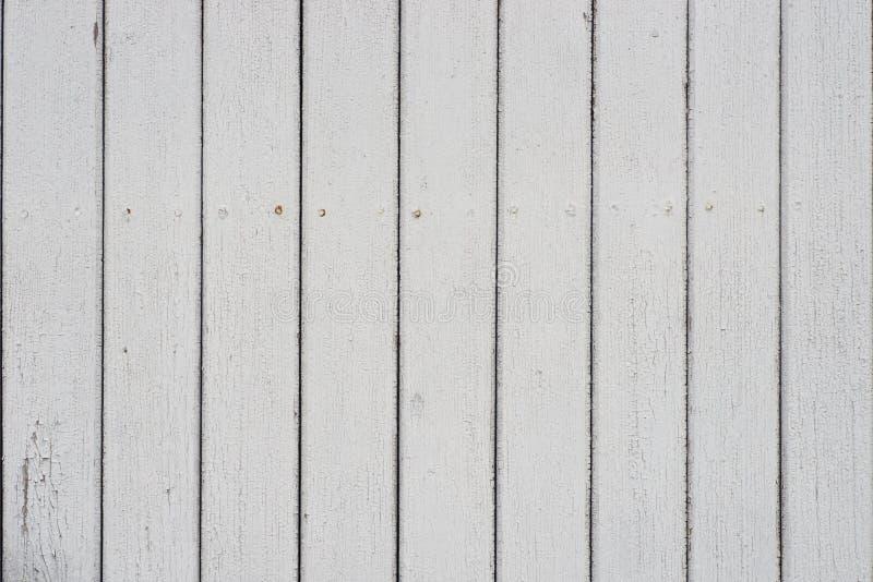 Texture de fond de mur peinte par blanc de conseils en bois photographie stock