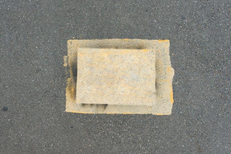 Texture de fond de route goudronnée du macadam, vue supérieure images libres de droits