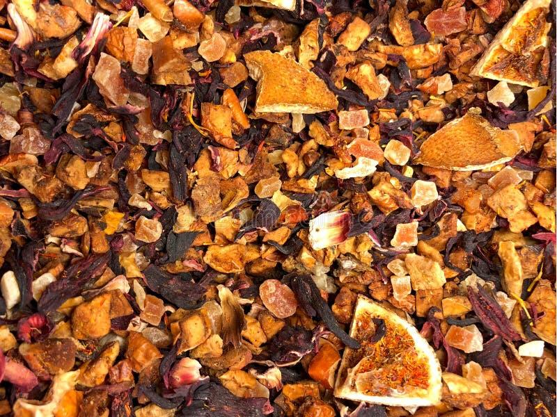 Texture de fond de thé de feuilles mobiles de rayon de soleil d'agrume photo stock