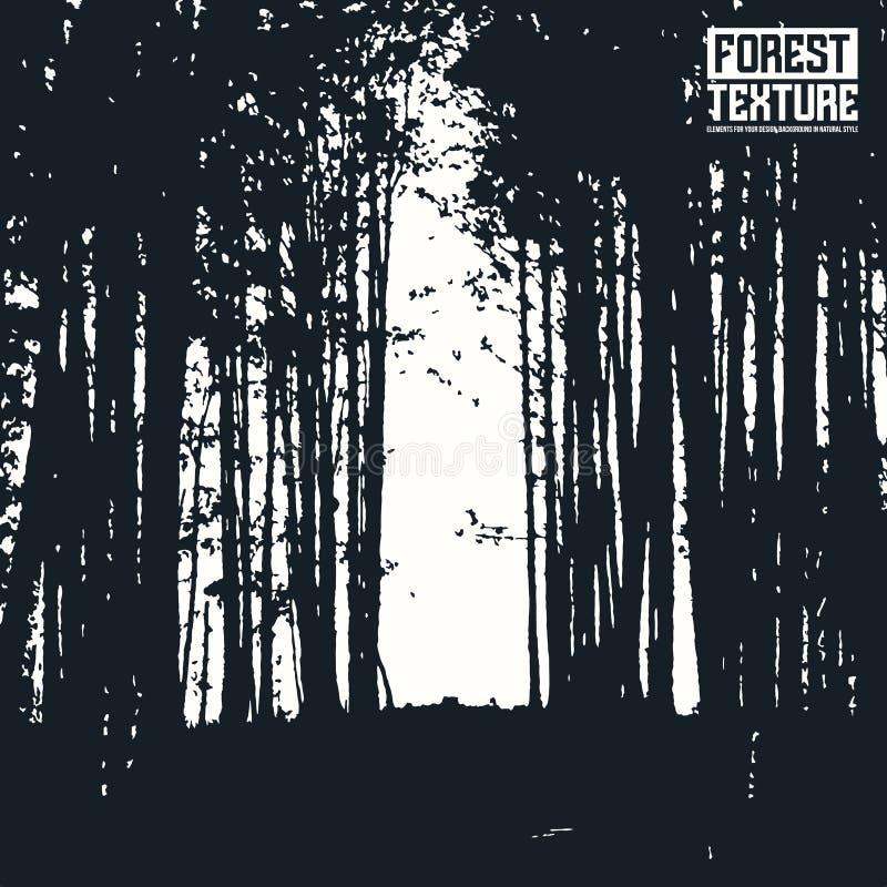Texture de forêt de mur d'ouverture illustration libre de droits