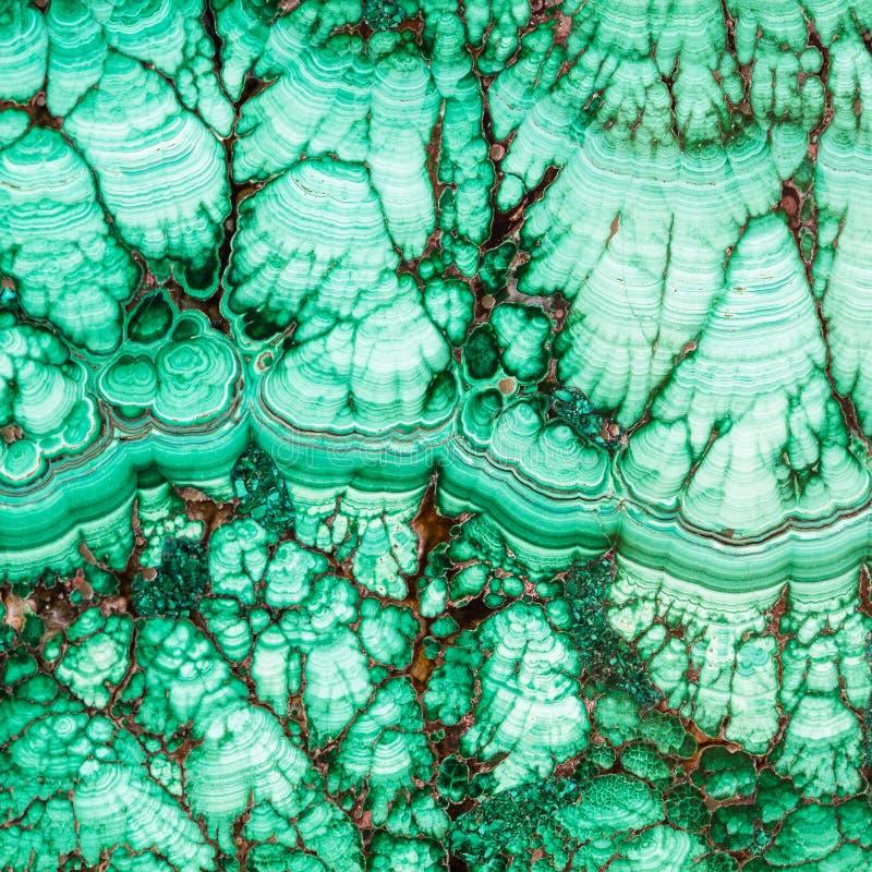 Texture de gemme de minerai de malachite image libre de droits