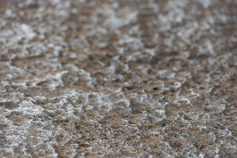 Texture de glace couverte de sable photos libres de droits