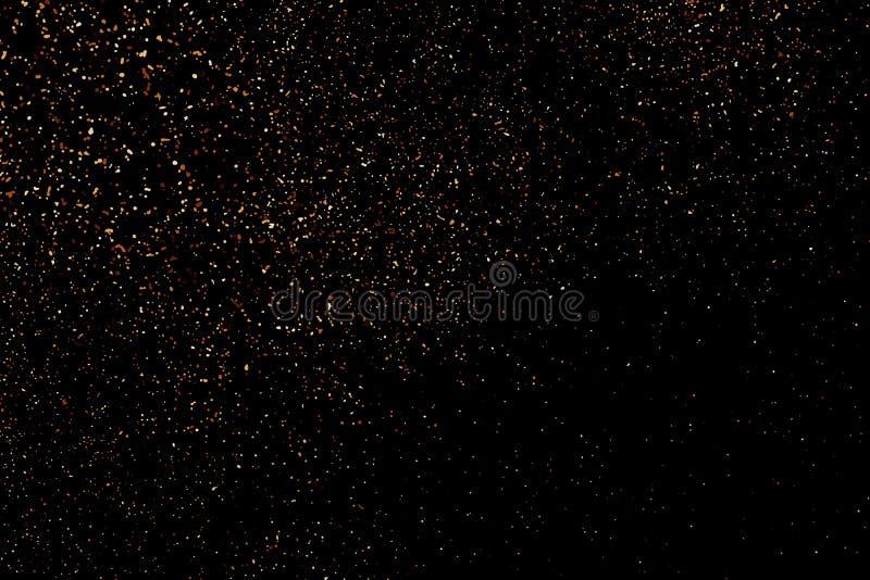 Texture de grain de couleur de caf? d'isolement sur le fond noir photos libres de droits
