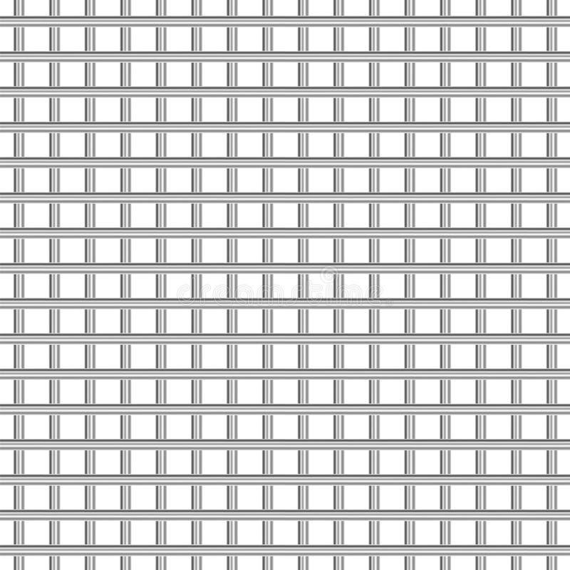 Texture de grille en métal sur le fond blanc illustration de vecteur