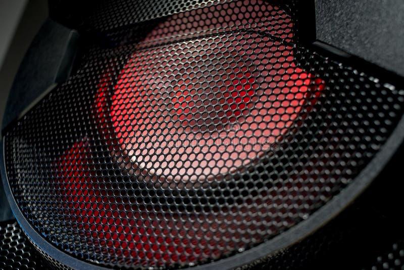 Texture de grille de haut-parleur dans des couleurs foncées photo libre de droits