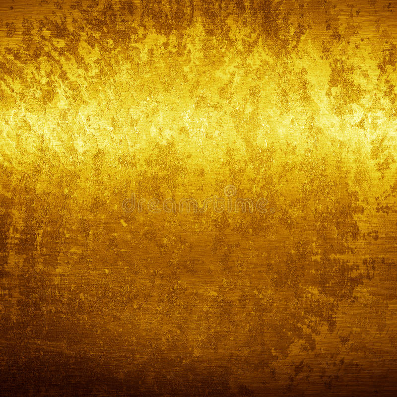 Texture de grunge d'or photos libres de droits