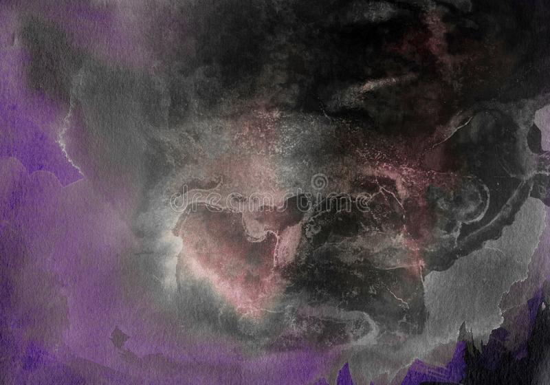 Texture de grunge d'aquarelle Fond abstrait, vieux mur en b?ton Illustration de recouvrement au-dessus de toute conception pour c illustration de vecteur