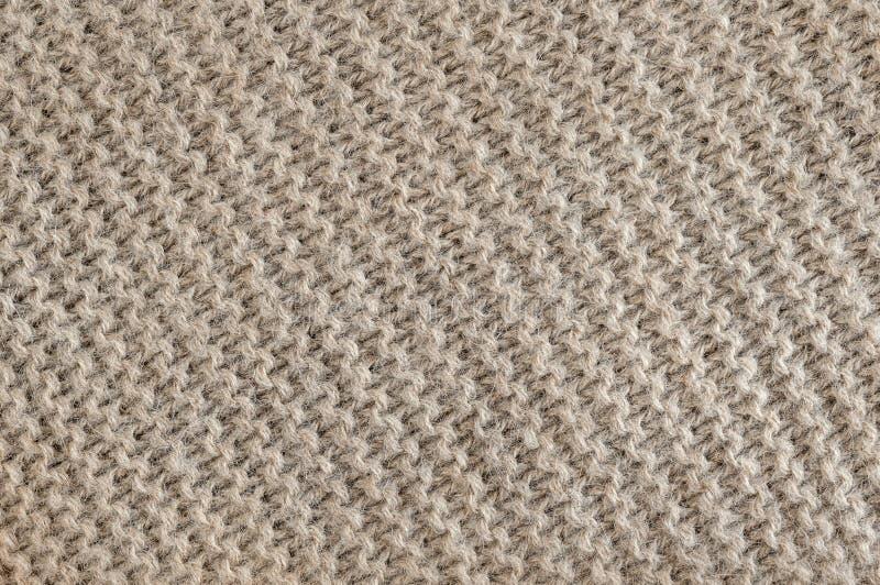 Texture de knit de laine de Brown images libres de droits