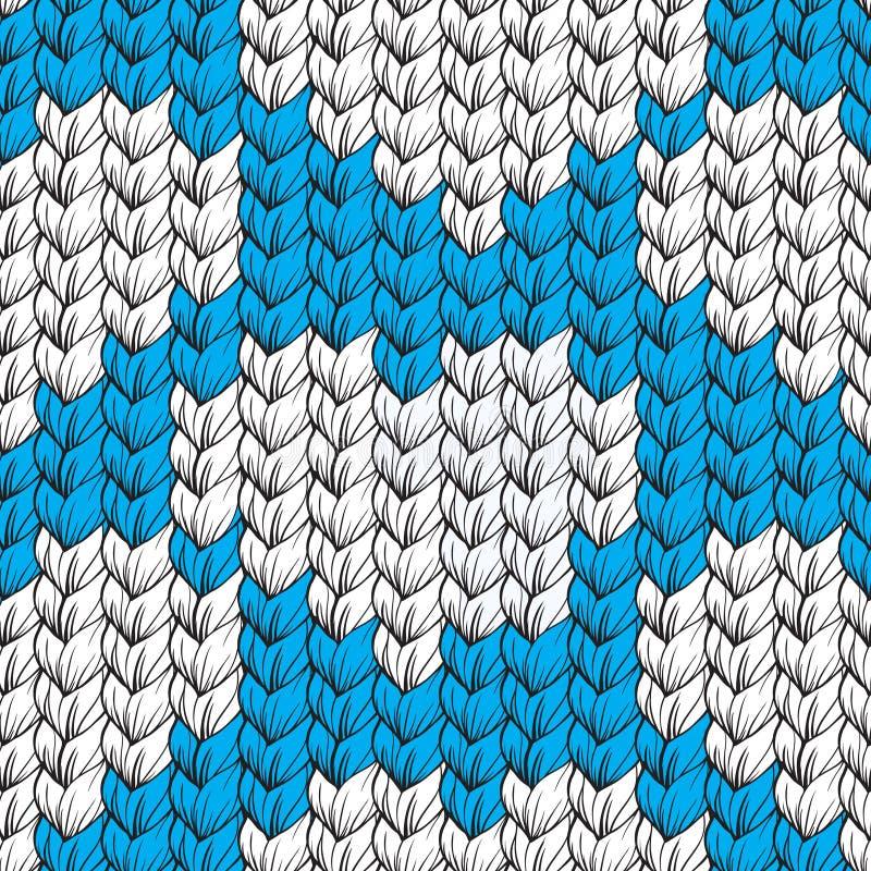 Texture de Knit, modèle sans couture illustration de vecteur