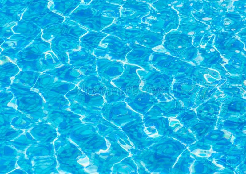 Texture de l'eau bleue dans la piscine photos stock