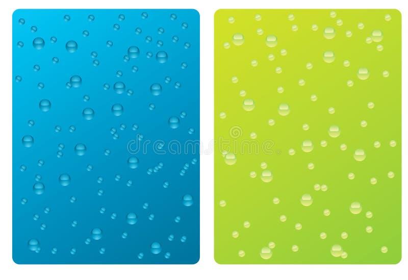 Texture de l'eau de baisses   illustration de vecteur