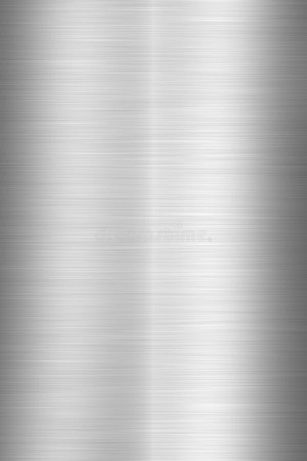 Texture de la plaque d'acier balayée images libres de droits