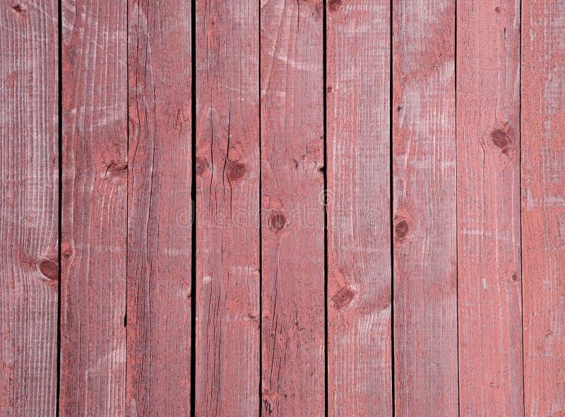 Texture De La Vieille Barrière En Bois Peinte Avec La Peinture Rouge