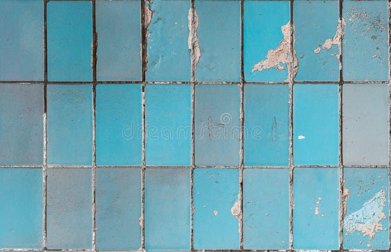 Texture de la vieille tuile bleue photos stock