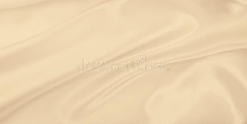 Texture de luxe d'or ?l?gante douce de tissu de soie ou de satin en tant qu'?pouser le fond Conception luxueuse de fond Dans la s image stock