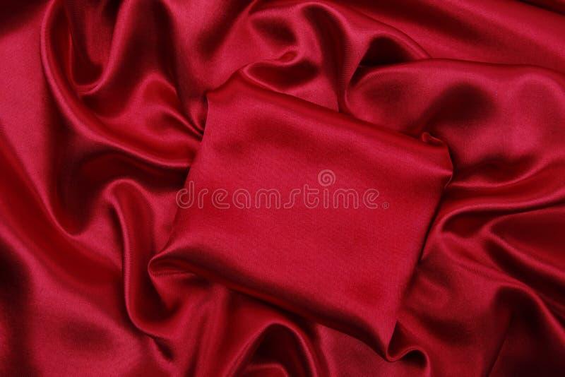 Texture de luxe rouge élégante douce de tissu de soie ou de satin comme abstrac image libre de droits