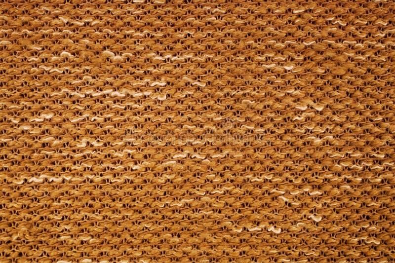 Texture de macro de tissu tricoté par jaune photographie stock