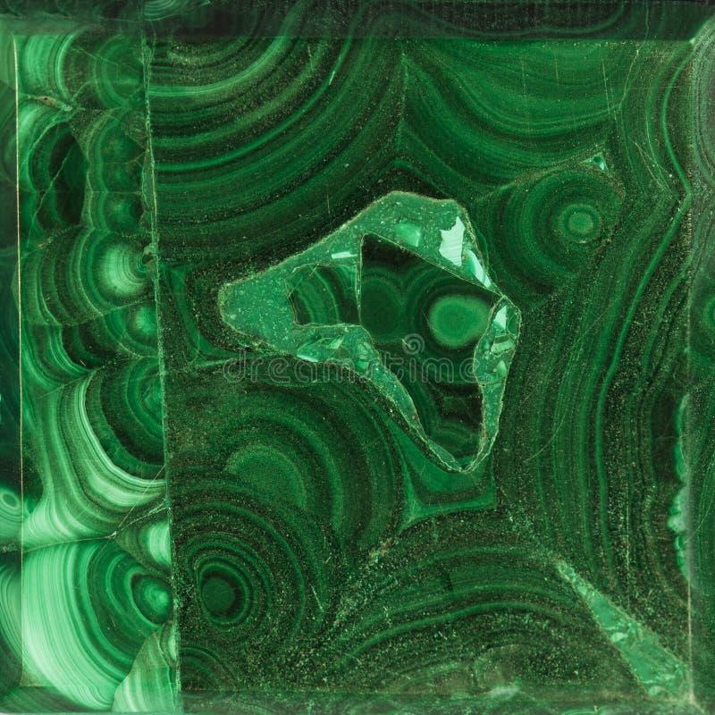 Texture de malachite de gemme images libres de droits