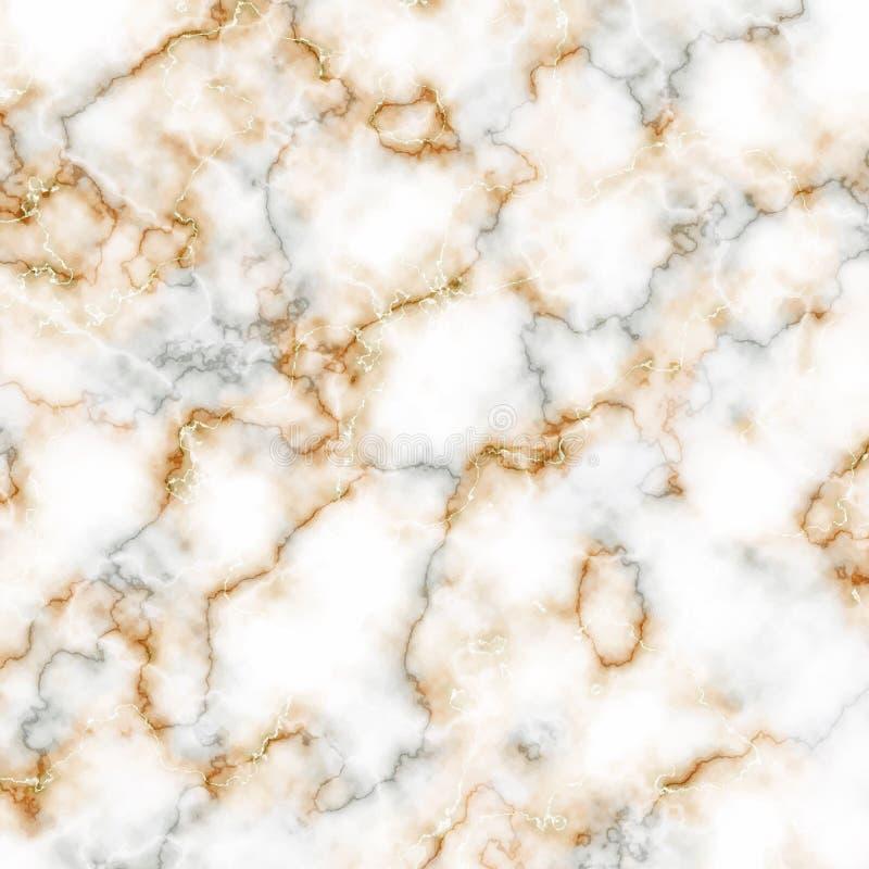Texture de marbre blanche, grise et d'or Fond de vecteur illustration stock