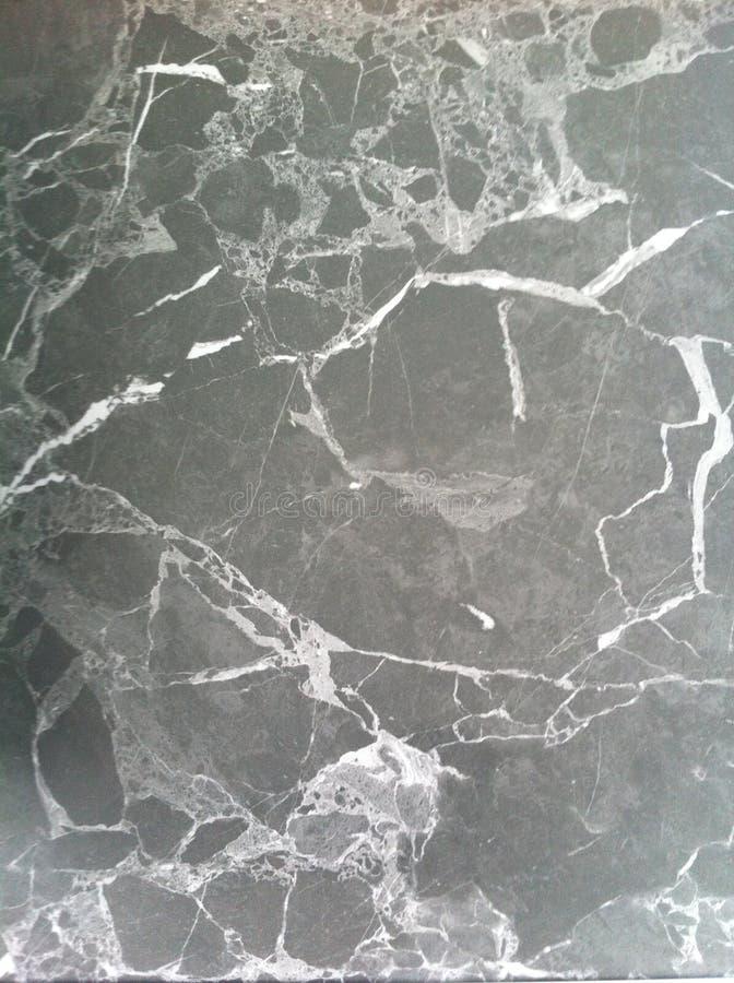 Texture de marbre foncée Pierre naturelle polie avec les veines blanches, lignes illustration libre de droits