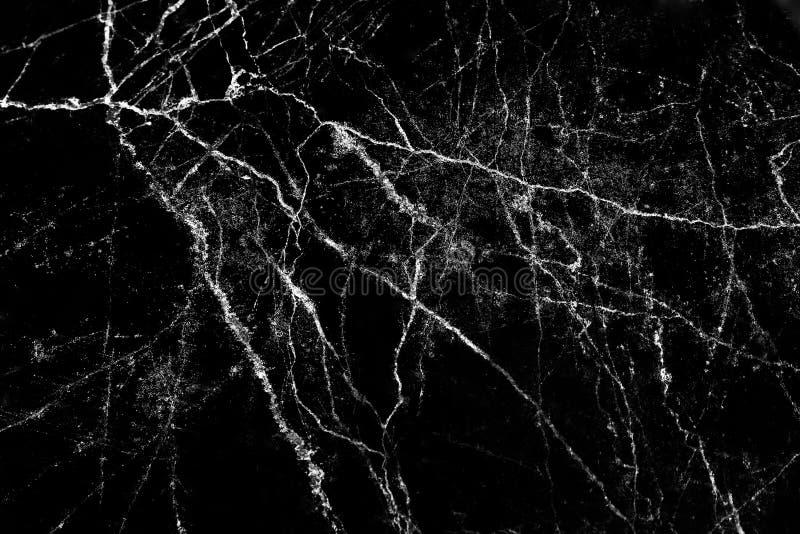 Texture de marbre noire avec la ligne blanche mod?les fond de nature et l'espace de copie images stock