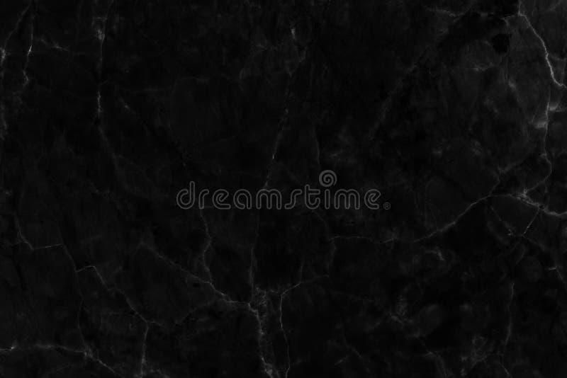 Texture de marbre noire dans naturel modelé pour le fond et la conception photographie stock libre de droits