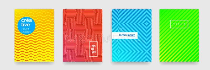 Texture de modèle de fond, ligne géométrique abstraite conception Dirigez le gradient de couleur jaune, rouge, bleue et verte, fo illustration libre de droits