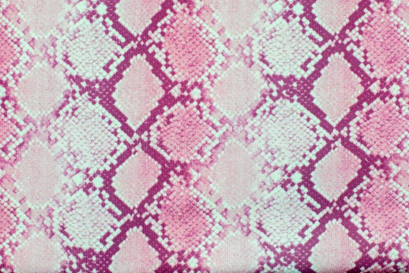Texture de modèle de peau de serpent répétant le rose sans couture Vecteur Serpent de texture Copie à la mode Mode et fond élégan photographie stock