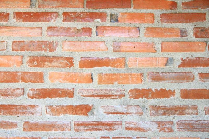 texture de mur de briques Mur de briques orange de maison pour le fond ou la texture photographie stock libre de droits