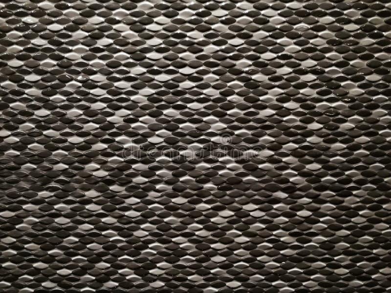 Texture de mur décorée de la tuile ronde image stock