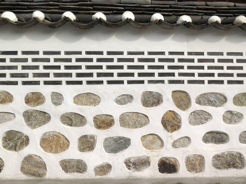 Texture de mur de briques, style coréen photo libre de droits