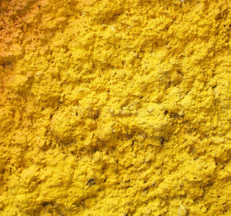 Texture de mur de jaune de vintage photo stock