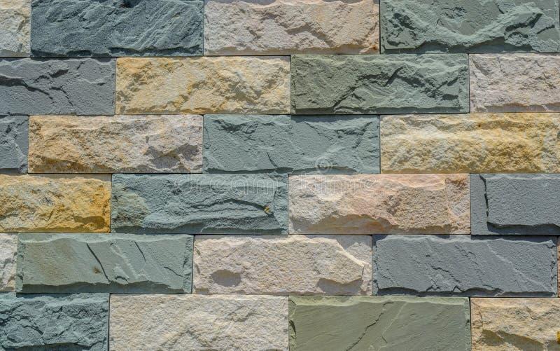 Texture de mur de roches de briques images libres de droits
