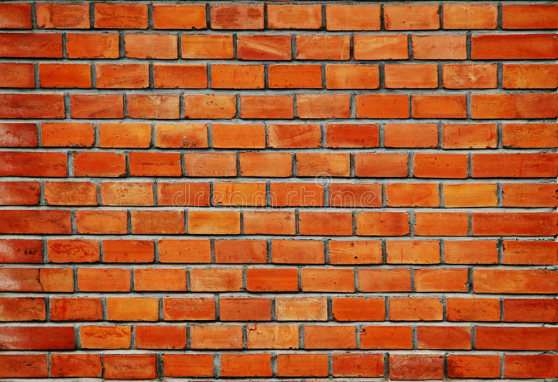 Texture de mur des briques rouges images libres de droits